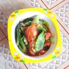 番茄烩生菜