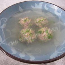 生菜丸子汤