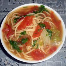 西红柿生菜汤面