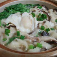 香菇肉丝鸡蛋面