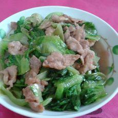 生菜炒肉片
