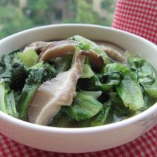 生菜炒香菇