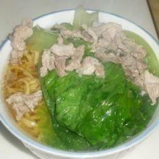 瘦肉生菜面