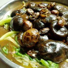 花菇蚝豉扒生菜