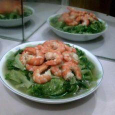 虾仁炒生菜