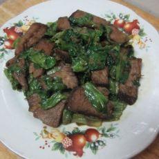 生菜炒酱牛肉