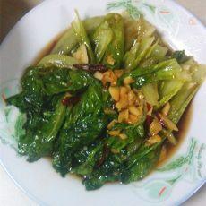 蚝油蒜末生菜