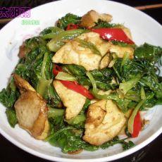 生菜炒豆火腿