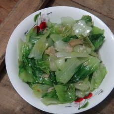 油渣炒生菜