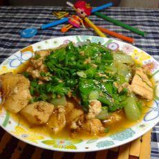 豆腐炒生菜