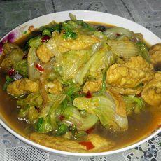 生菜烩素鱼