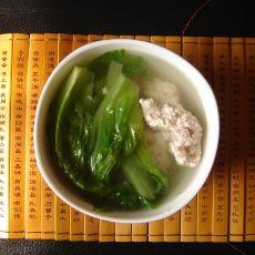 生菜肉丸汤
