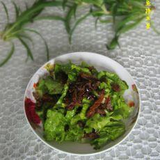 豆豉鱼拌生菜
