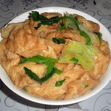 菠菜生菜熬油饼