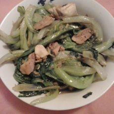瘦肉炒生菜