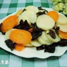 胡萝卜木耳烩山药