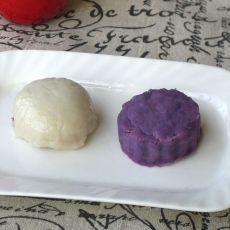 山药紫薯糍粑