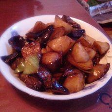 蒜烧土豆山药茄子块的做法