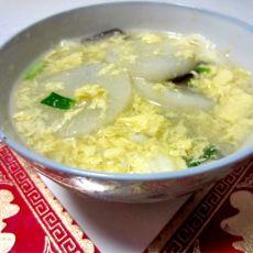山药蛋花菌菇汤