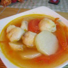 番茄肉丸山药汤