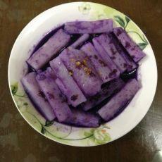 紫甘蓝汁山药
