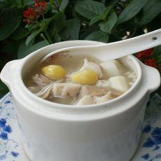 白果山药炖猪肚的做法
