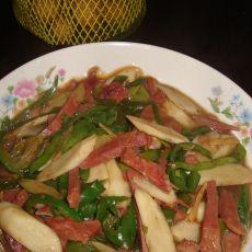 牛肉辣椒炒山药的做法