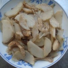 山药炒香菇的做法