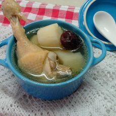 红枣山药炖鸡汤