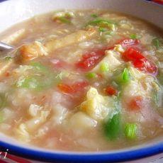 鸡蛋豆腐面疙瘩汤
