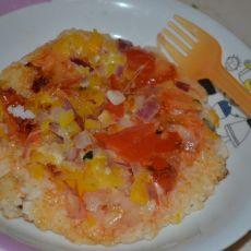 电饼铛版大米饭披萨的做法