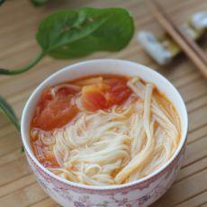 西红柿金针菇龙须面