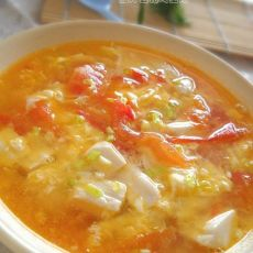 茄汁豆花鸡蛋汤的做法