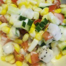 玉米蔬果沙拉的做法步骤