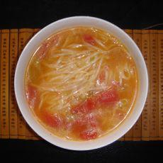 西红柿炝锅面的做法