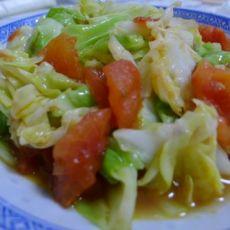 清炒西红柿圆白菜