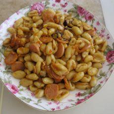 茄汁香菇香肠炒猫耳面