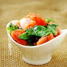 小白菜炒柿子