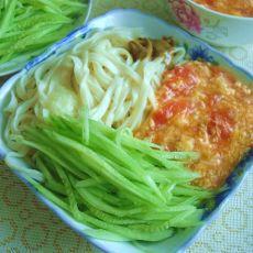 西红柿鸡蛋捞面的做法