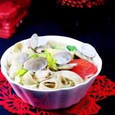 蛤蜊绿豆杂面