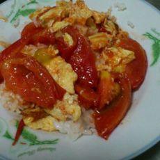 西红柿炒鸡蛋盖浇饭