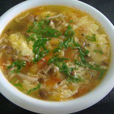 西红柿柳姬菇鲜汤