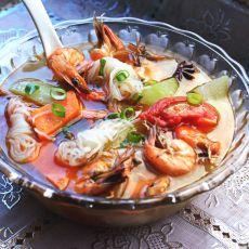 海虾魔芋汤