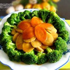 蚝油杏鲍菇扒西兰花