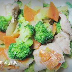 肉炒西蓝花