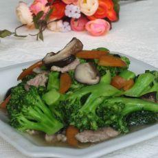 香菇肉片炒西兰花