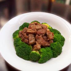 西兰花扒牛肉粒