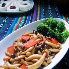 鲍汁烩双菇