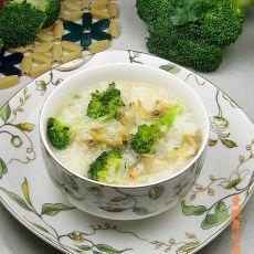 西兰花蛤蜊粥
