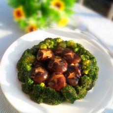 西兰花烧鲜香菇